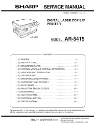 sharp ar 5415 service manual image scanner printer computing