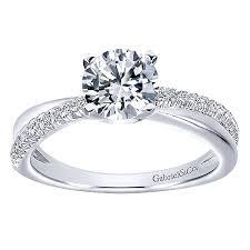 Circle Diamond Wedding Ring by Morgan 14k White Gold Round Twisted Diamond Vault Jewelers