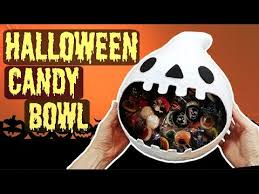 diy halloween candy bowl easy crafts youtube