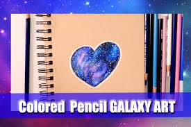 how to make galaxies with colored pencils on toned tan paper