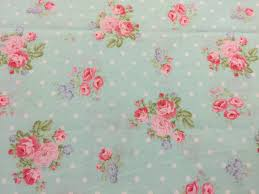 fabric mint polka dot floral fabric by the yard quilt fabric