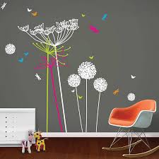 dandelions and cowparsley wall stickers funky little darlings dandelions and cowparsley wall stickers