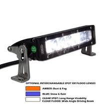 Single Row Led Light Bar by Tuff Stuff 7 U2033 Single Row Led Light Bar 5040 Lumens 42 Watts