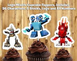 printable lego mixels cupcake toppers by instbirthday on zibbet