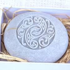 celtic design home decor stone paperweight hand carved stone