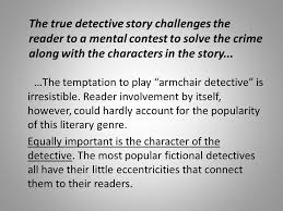 Armchair Detective The History Of The Detective Story From Poe To Modern Day