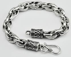 man silver link bracelet images Thai silver jewelry 925 silver bracelet original handmade vintage jpg