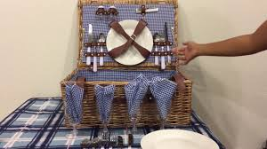 Best Picnic Basket Best Choice 4 Person Wicker Picnic Basket Youtube