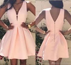 simple dresses simple v neck homecoming dresses 2017 pink mini