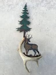 Christmas Tree Decorations With Deer Antlers by C101 Mule Deer On Alert Authentic Deer Antler U0026 Metal Wall Art