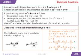 learnhive icse grade 10 mathematics quadratic equations