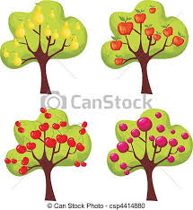 cute trees vector clipart of trees set vector illustration of a cute trees