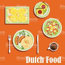 niederl ndische k che niederländische küche traditionelle gerichte und snacks vektor