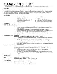 Sample Of Skills In Resume best paralegal resume example livecareer