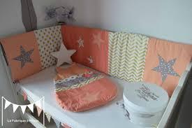 d orer chambre fille tour lit gigoteuse 0 6 mois bébé fille abricot corail doré gris