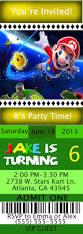 mario birthday ticket style invitations kustom kreations