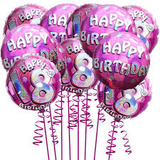 balloons for 18th birthday 15 helium filled foil 18th pink sparkling birthday balloons
