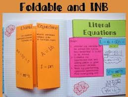 literal equations foldable inb practice u0026 exit ticket