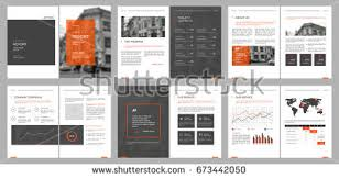 financial magazine layout template download free vector art