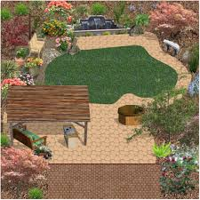 medium sized backyard landscape ideas with grass and bamboo pics