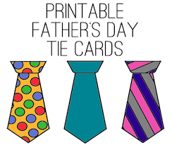 printable father u0027s day tie cards life your way