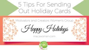 5 tips for sending out holiday cards businesswomen grow your