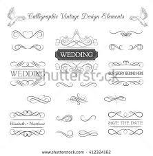 ornate frame elements vintage filigree decoration stock vector