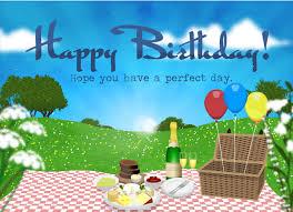 ecards happy birthday picnic