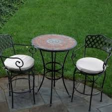 Patio High Table And Chairs Wrought Iron Bar Height Table Foter
