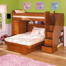twin over full size bunk bed with stairs and plenty storage plus