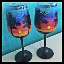 wine glass painting a glass of paradise outer banks painting