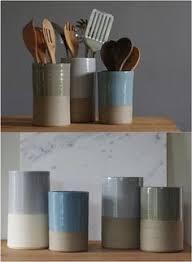 kitchen utensil canister stoneware vessels are a stylish way to stash kitchen utensils