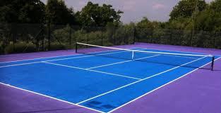 tennis courts with lights near me porous macadam tennis court surfacing