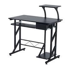 Compact Computer Desk Homcom Compact Computer Desk Black Aosom Co Uk