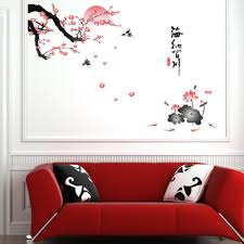 aliexpress com buy plum blossom lotus flowers removable wall art aliexpress com buy plum blossom lotus flowers removable wall art decals vinyl stickers art mural from reliable sticker robot suppliers on home product no