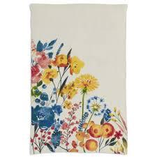 sur la table kitchen towels multicolor floral linen kitchen towel 28 x 18 sur la table