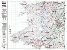 Map Of Wales And England by Os Administrative Boundary Map Local Government Sheet 7 Wales