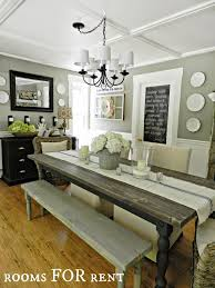 Farmhouse Dining Room Tables Best 25 Farmhouse Dining Rooms Ideas On Pinterest Formal Dining