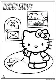 kitty color coloring pages kids cartoon