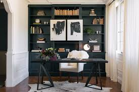 Black Book Shelves by Black Built In Bookshelves Home Office Transitional With Desk