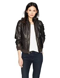 light brown vest womens amazon com levi s women s two pocket faux leather hooded bomber