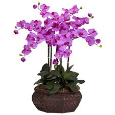 large phalaenopsis silk flower arrangement nearly natural