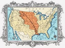 usa map louisiana purchase jefferson and the louisiana purchase