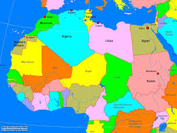 Blank Map Of Egypt by Africa North Africa Political Map A Learning Family