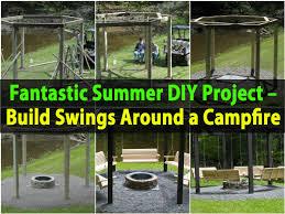 Firepit Swing Fantastic Summer Diy Project Build Swings Around A Cfire