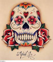 sugar skull tattoos design