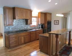 Cherry Cabinets Kitchen Dark Cherry Cabinets Maple Hardwood And Light Countertops