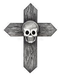 art skull cross tattoo stock illustration image of fine 58318346