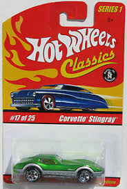 hotwheels corvette stingray wheels classics series 1 corvette stingray green 17 of 25 ebay