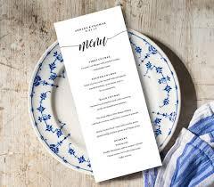 diy wedding menu cards menu card template rustic dinner menu wedding menu card